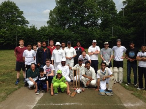 Cricket Training for the Locals Hannover 2015