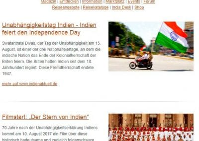 INDIEN aktuell Newsletter – August 2017