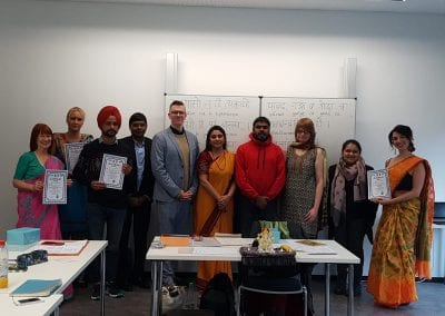 Closing Ceremony of Sanskrit Classes and Visit of Hon_ TTC Director to Hannover-001iashannover