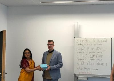 Closing Ceremony of Sanskrit Classes and Visit of Hon_ TTC Director to Hannover-003iashannover