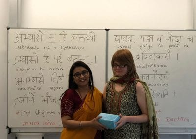 Closing Ceremony of Sanskrit Classes and Visit of Hon_ TTC Director to Hannover-004iashannover