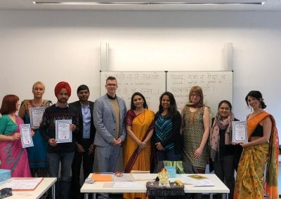 Closing Ceremony of Sanskrit Classes and Visit of Hon_ TTC Director to Hannover-005iashannover