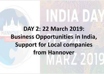 1 Business opportunities in India - India days 2019- march 22- day2-iashannover