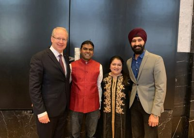 india days-march-22-day-2-18 Board Members of IASH, Dr. Bala Ramani, Ms. Mairali Majmudar and Mr. Amandeep Singh Gulati with the Lord Mayor of Hannover Mr. Stephan Schostok —-iashannover