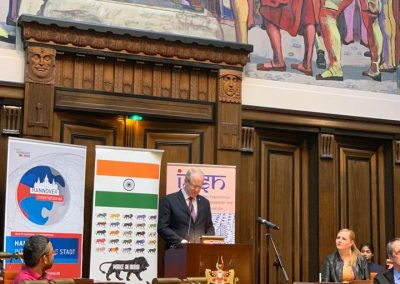 india days-march-22-day-2-3 Lord Mayor of Hannover Mr Stephan Schostok addressing the audience and inaugurating the event.-iashannover