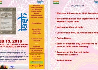 Republic Day Event and Potluck -Feb 2016