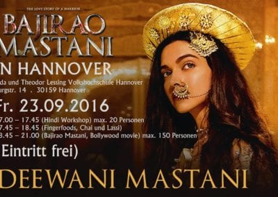 Hindi Workshop and ''Bajirao Mastani'' Bollywood Movie