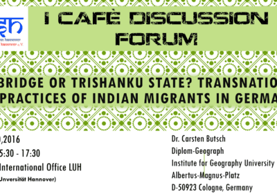 iCAFE Discussion Forum – April 2016