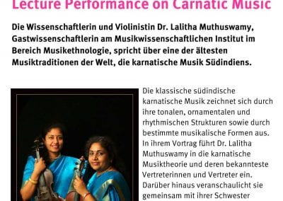 Lecture Performance on Carnatic Music