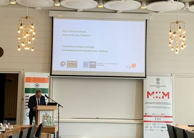5 Mayor of Hannover Mr Thomas Hermann sharing his thoughts on the event Business opportunities in India - India days 2019- march 22- day2-iashannover