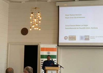 6 Hon Consul General Shri Madan Lal Raigar addressing the audience Business opportunities in India - India days 2019- march 22- day2-iashannover