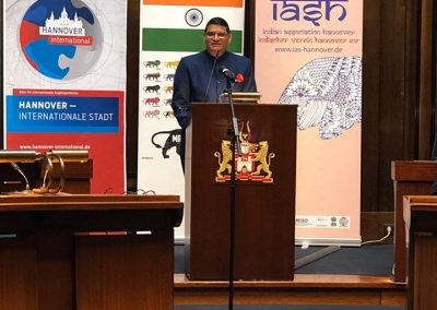india days-march-22-day-2-4 Hon Consul General, Shri Madan Lal Raigar addressing the audience-iashannover
