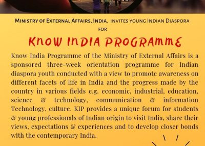 Know Your India Programme (KIP)-2019