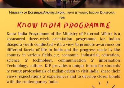 Know Your India Programme (KIP)-2019