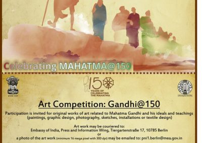 Art competition GANDHI@150 – Berlin