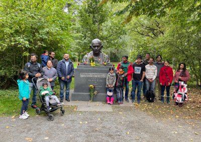Gandhi Jayanthi celebration at Gandhi Statue